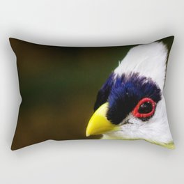 White Crested Turaco Rectangular Pillow