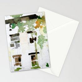 Brownstones and Tree Stationery Cards