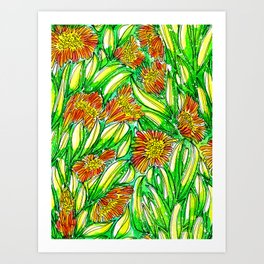 Ice Plants Art Print