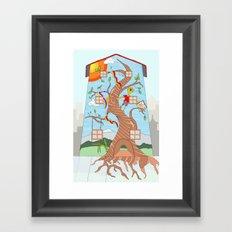Childhood on a wall Framed Art Print