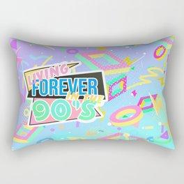 Living Forever In The 90s Rectangular Pillow