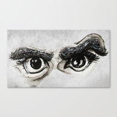 Doubt Black Eyes Canvas Print