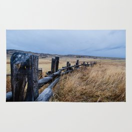 Wyoming Wooden Fence Line Rug