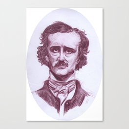 Edgar Allen Poe Canvas Print