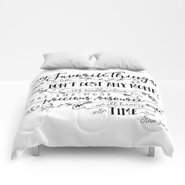 My Favorite Things Don't Cost Money - Steve Jobs Quote Comforters