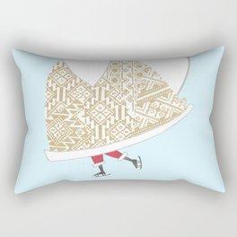 Romanian Santa -Rejoice Rectangular Pillow