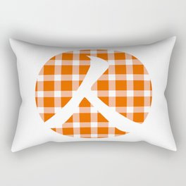 Plaid Persimmon Orange Person Rectangular Pillow