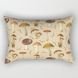 Wild Forest Mushroom Pattern Rectangular Pillow