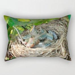 Azores blackbird nest Rectangular Pillow