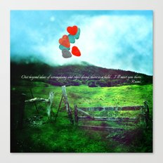 there is a field... I'll meet you there. {VER. II} Canvas Print