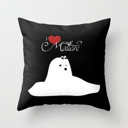 ILoveMyMaltese -Sitting pose- Throw Pillow