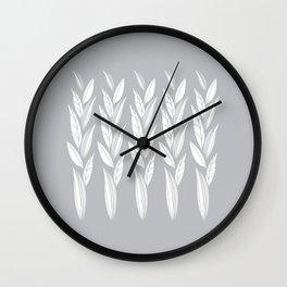 Eternity in Silver Leaf Wall Clock