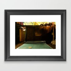 Low Light Backyard#1 Framed Art Print