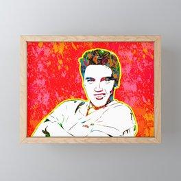 Elvis | Splatter Series | Presley | Pop Art Framed Mini Art Print