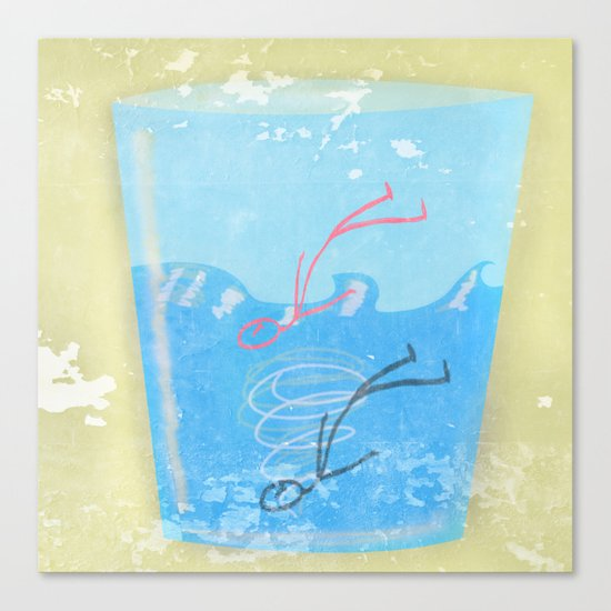 Some people can get drawn in a glass of water Canvas Print