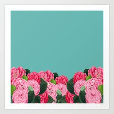 Floral & Turquoise Art Print