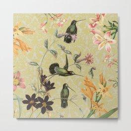 Yellow Hummingbird Metal Print