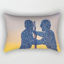Berlin Molecule Men Rectangular Pillow