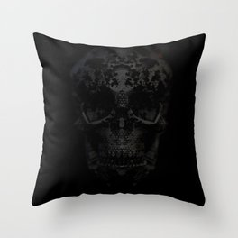 Skulls Black Throw Pillow