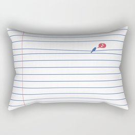 BIRD NOTE Rectangular Pillow