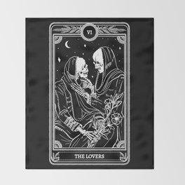 The Lovers Skeleton Throw Blanket