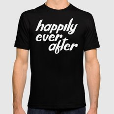 happily ever after MEDIUM Black Mens Fitted Tee