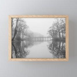 Spring Lake Bridge in the Fog Framed Mini Art Print