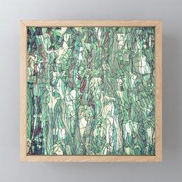Abstract green Framed Mini Art Print