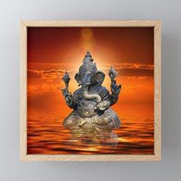 Elephant God Ganesha Framed Mini Art Print