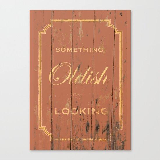 Something Oldish Looking Canvas Print