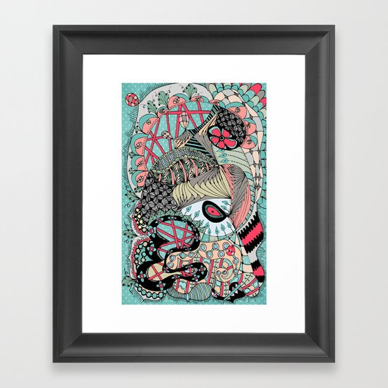 The eye looking flower Framed Art Print
