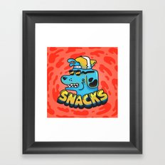 Snacks Dawg Framed Art Print