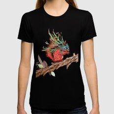 Little Adventurer Black SMALL Womens Fitted Tee