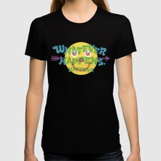 Whatever Happens, Happens. Womens Fitted Tee Black SMALL
