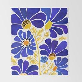 The Happiest Flowers Throw Blanket