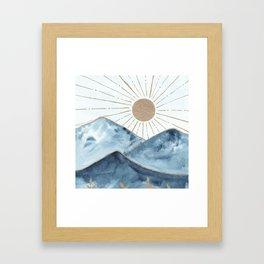 Indigo & gold landscape 1 Framed Art Print