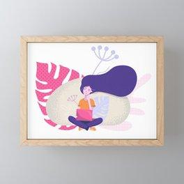 Girl at Work Framed Mini Art Print