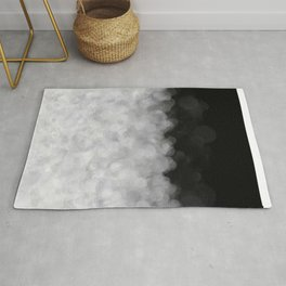 Snow Clouds in the Dark - Abstract Rug