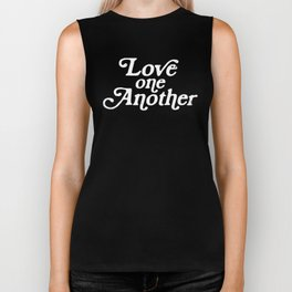 Love One Another Sunflowers Biker Tank