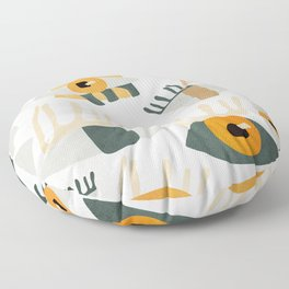 Abstract Art Eyes Floor Pillow