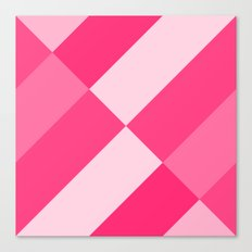 Hot Pink Angled gradient Canvas Print