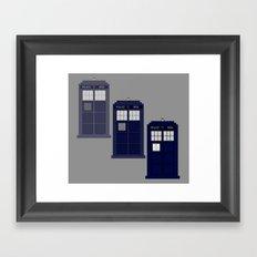 The Materializing TARDIS Framed Art Print