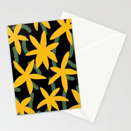 Yellow star flower Stationery Cards