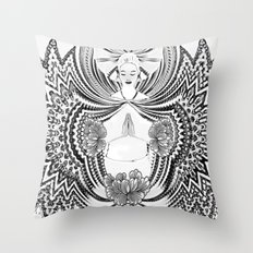 Yoga Girl Throw Pillow