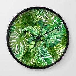 green tropic Wall Clock