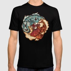 The Tiger and the Dragon Mens Fitted Tee Black LARGE