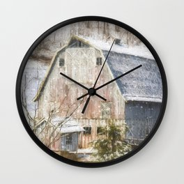 Old Fashioned Values - Country Art Wall Clock