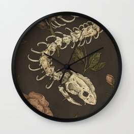 Snake Skeleton Wall Clock