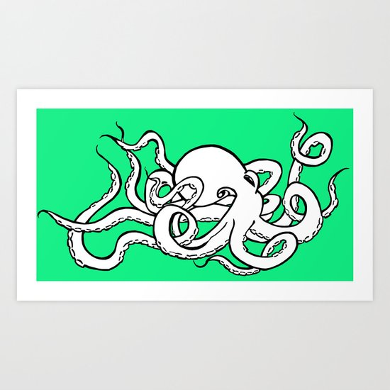8 Arms in Motion Art Print