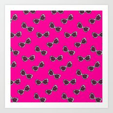 Diva Sunglasses-Pink Art Print